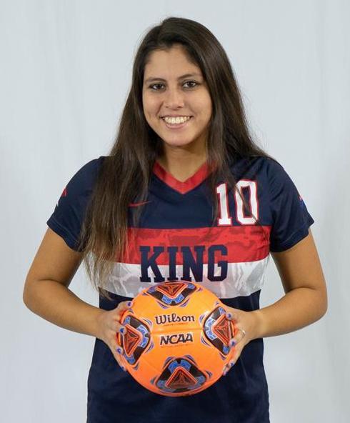 Alex Svetlik In Her King University Soccer Uniform